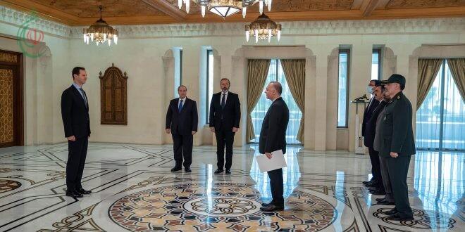 الرئيس بشار الأسد يتقبل أوراق اعتماد السيد مهدي سبحاني سفير الجمهورية الإسلإمية الإيرانية لدى سورية