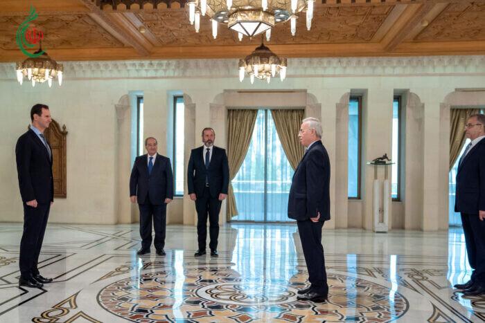 الرئيس بشار الأسد يتقبل أوراق اعتماد السيد سمير الرفاعي سفيراً دولة فلسطين لدى سورية