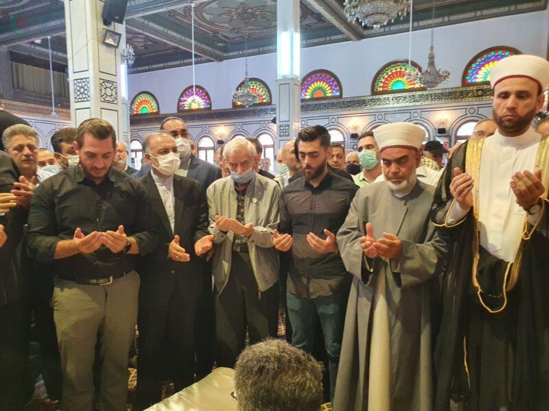 السفير الإيراني بدمشق يشارك تشييع المناضل الفلسطيني أحمد جبريل مؤسس