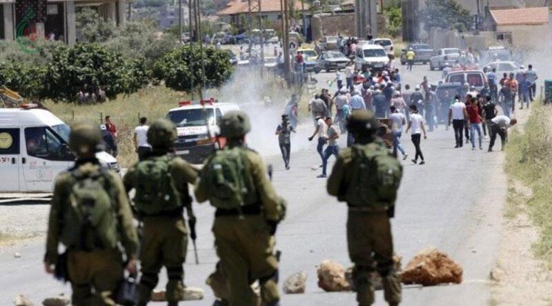 عشرات الإصابات خلال مواجهات مع قوات الاحتلال جنوب نابلس