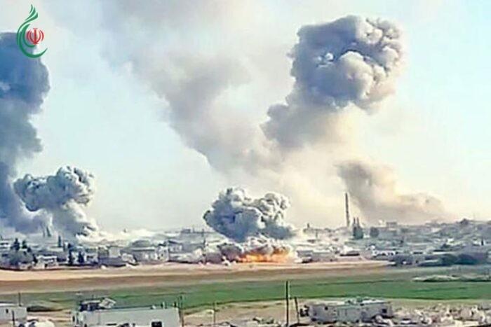 سورية : صواريخ المقاومة تستهدف القاعدة الأمريكية بدير الزور