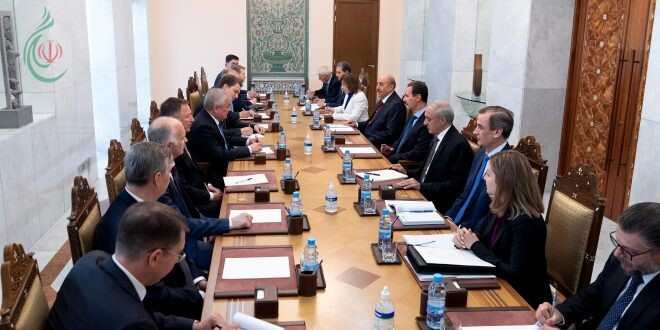 لقاء الرئيس الأسد ومبعوث الرئيس الروسي تناول العلاقات الاستراتيجية بين البلدين وتطورات المسار السياسي